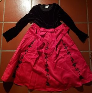 Rare Editions Girls' Fancy Christmas Party Dress